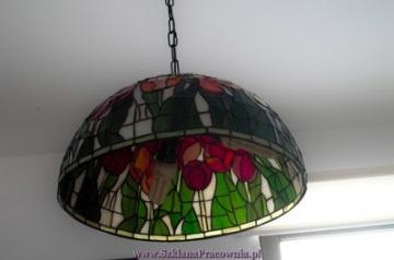 Lampa witrażowa wisząca średnica 40cm.