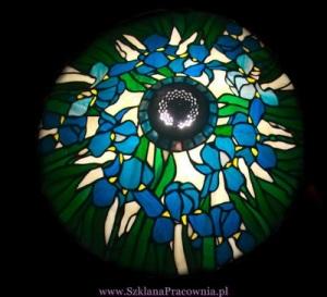 Lampa witrażowa - kopia lampy Tiffany z niewielkimi zmianami