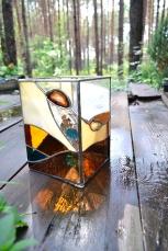 """Lampion witrażowy ze szkła i kamieni. Kurs """"lampiony witrażowe"""""""
