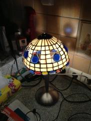Lampa zaprojektowana i wykonana przez kursantkę PO zakończeniu kursu.