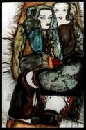 Transpozycja malarstwa Schiele na szkło - Witraż ołowiany