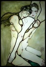 Interpretacja i transpozycja malarstwa Schiele na szkło - Witraż klasyczny