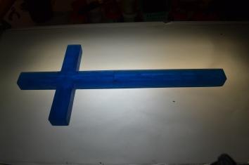 Krzyż/rzeźba odlewany (fusing w formie) mały (45cm wysokości)